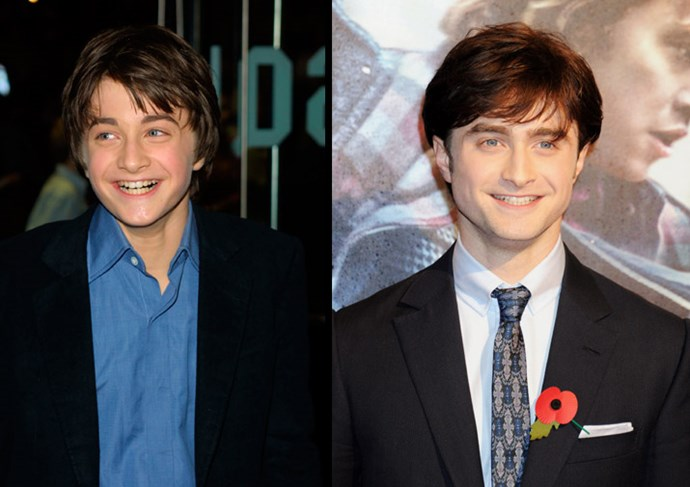 Harry Potter, er, Daniel Radcliffe in 2000... Now a handsome young man
