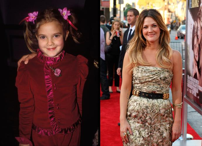 Who could forget cute Drew Barrymore in *E.T*? Now an accomplished actress and producer