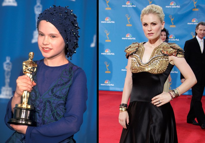 Anna Paquin won an Oscar at just 11 years of age has become a Hollywood mainstay