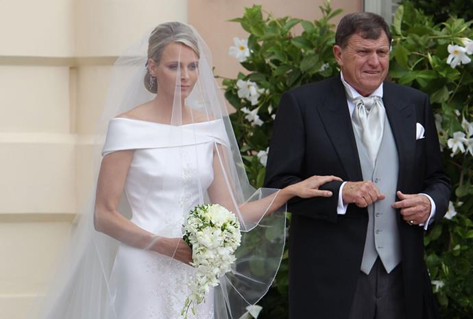 Princess Charlene of Monaco and her father Michael Wittstock.