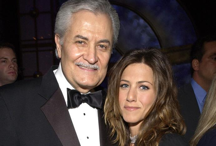 Jennifer Aniston with her Greek-American actor father, John.