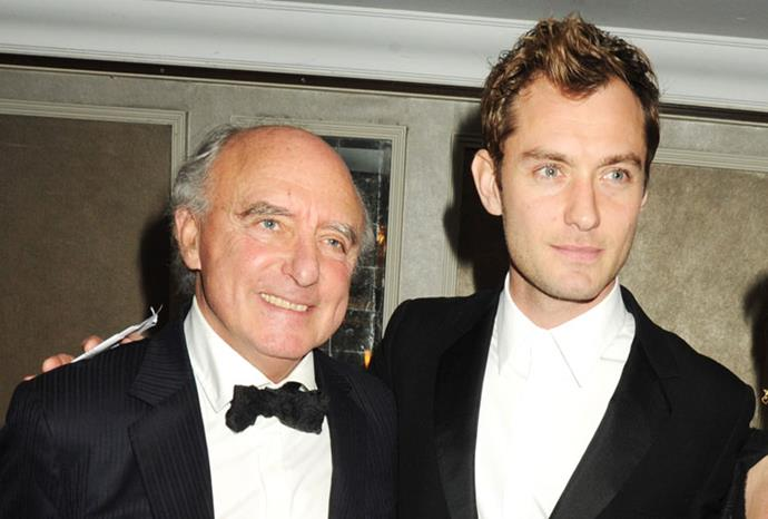 *Alfie* star and British heart-throb Jude Law pictured with father, Peter.