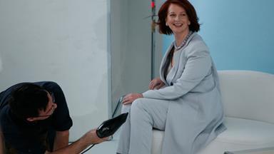 Behind the scenes with Julia Gillard