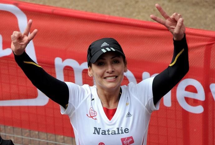Fitness freak: Natalie in the London Marathon 2010