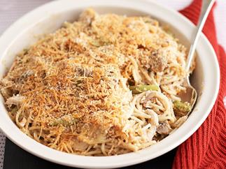 Baked chicken and mushroom pasta