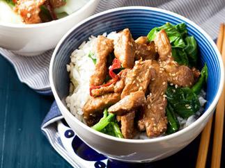 Sesame pork stir-fry