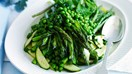 Asparagus, peas and zucchini with fresh mint