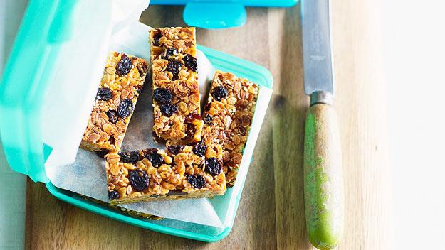 "**[Home-made muesli bars](https://www.womensweeklyfood.com.au/recipes/home-made-muesli-bars-13708|target=""_blank"")**  The second best part of making my own snacks is that I know exactly what goes into them - the best part is how they taste. The muesli bars in this recipe can be changed to suit any needs. I put linseed and sesame seeds in them, mostly so I can convince myself that I should eat them. Nuts are lovely, although the boys' school, as well as many others I am sure, has a peanut ban because of serious allergies. Good additions include slivered almonds, pine nuts, choc chips or chopped apricot pieces."