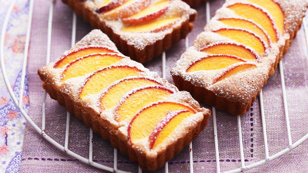"""**[[Peach and almond tarts](https://www.womensweeklyfood.com.au/recipes/peach-and-almond-tarts-13722