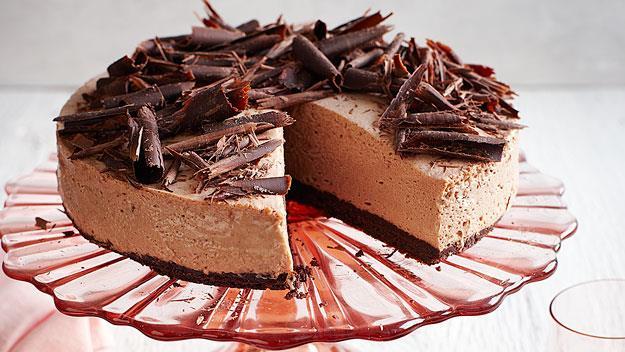 Dark chocolate and peppermint cheesecake