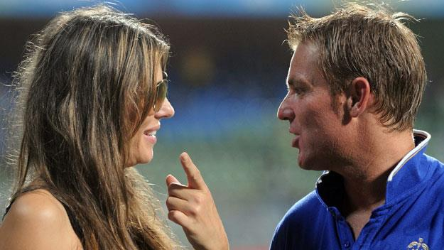 Shane Warne gets crass about Liz Hurley