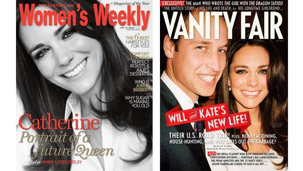 Prince William and Catherine magazine covers