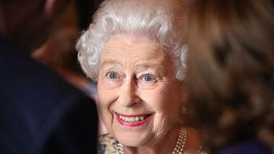 He's enormous! The Queen meets her great-grandson