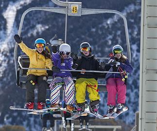 People on a skiilift