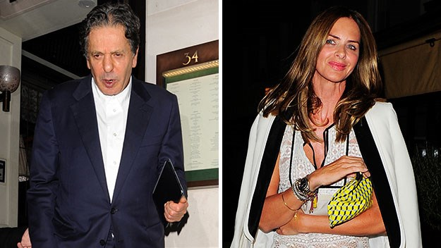 Charles Saatchi and Trinny Woodall.