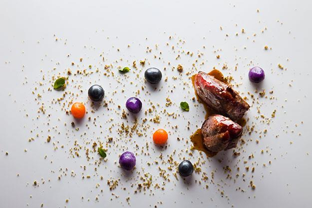 Pigeon with shot at Ametsa with Arzak Instruction