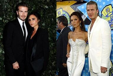 Victoria Beckham and David Beckham's matching style