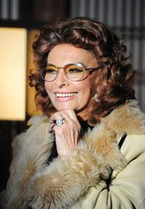 "73-year-old Sophia Loren looks incredible for her age and is still very much a sex symbol throughout the world. In 1991, Loren received the Academy Honorary Award for her contribution to world cinema and was declared ""one of the world cinema's treasures."""