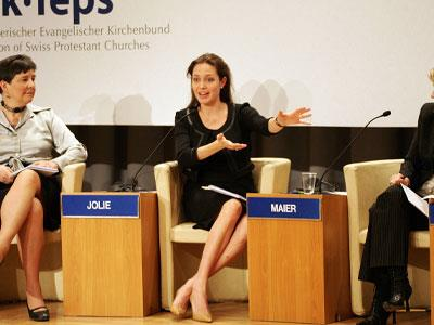 As a single mother, Angelina, continues with her duties as a UN Refugee Ambassador — endlessly campaigning and participating in discussions at World Economic Forums.