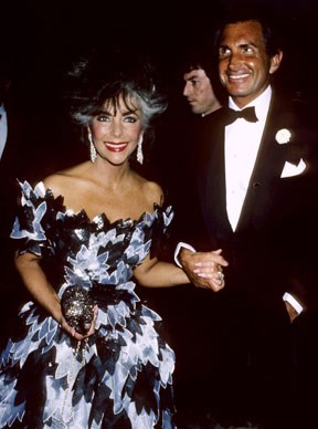George Hamilton and Elizabeth Taylor.  Photo by Ron Galella, Ltd./WireImage/Getty Images