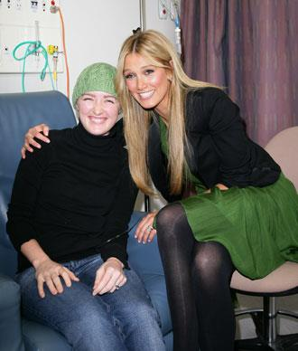 Delta's experience with Hodgkin's Disease has inspired her to encourage research into a cure for cancer. Here she meets leukemia patient Hailey as she announced plans for the new $100 million Cancer Centre at the St Vincent's Research Precinct of St Vincent's Hospital in October, 2008 in Sydney. Delta is the Patron of the Centre.