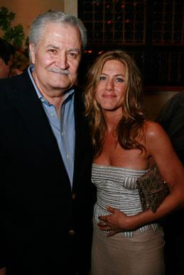 Jennifer with father John Aniston who is an actor famous for his role as Victor Kiriakis on the iconic and ever-lasting daytime soap *Days of Our Lives*.