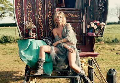 Gypsy girl: Kate Moss