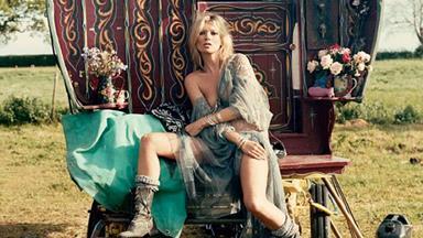 Gypsy girl: Kate Moss