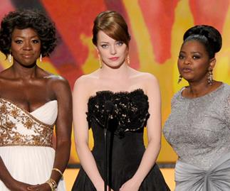 Viola Davis, Emma Stone and Octavia Spencer at the SAG Awards.