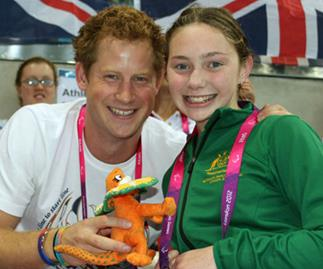 Harry meets our Paralympic Princess Maddison