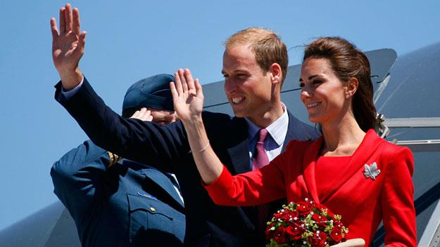 Kate and William on their first royal tour