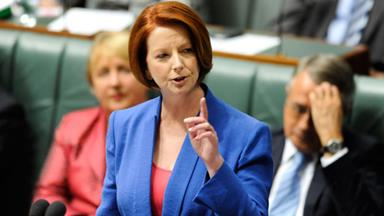 Prime Minister blasts 'sexist' Abbott in parliament