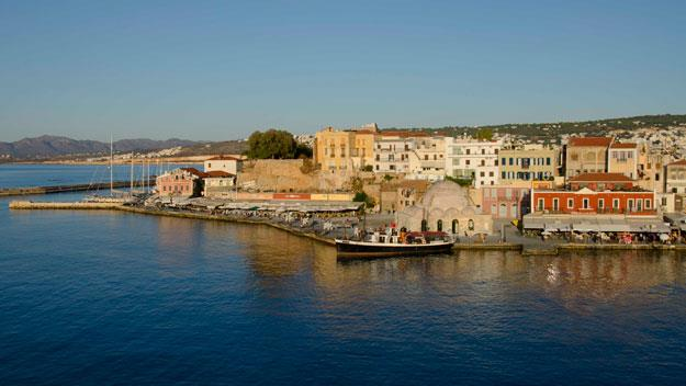 Chania's Venetian port, north-western Crete