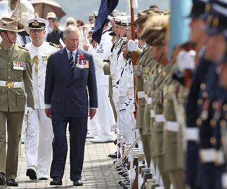 Charles and Camilla arrive in Sydney