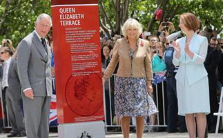 Charles and Camilla unveil Queen Elizabeth Terrace