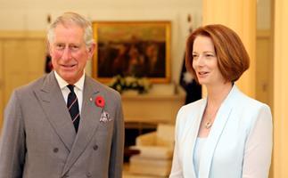Charles and Camilla meet Julia Gillard
