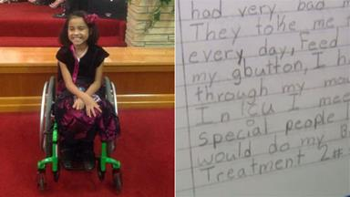 Paraplegic girl's letter to drunk driver leaves court in tears
