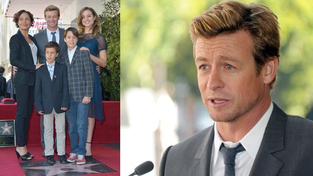 Simon Baker and his family.