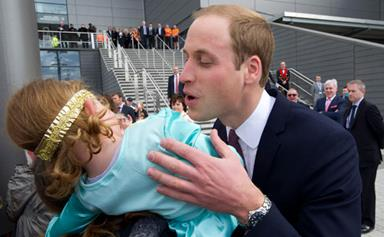 Little princess rejects Prince William's kiss