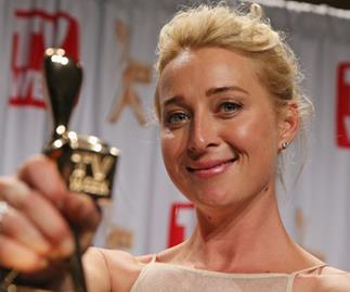 Asher Keddie with Gold Logie