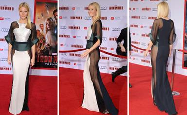 Gwyneth goes without underwear in daring dress at Iron Man 3 premiere