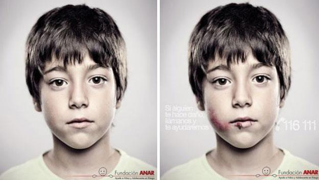 The child abuse poster only kids can see