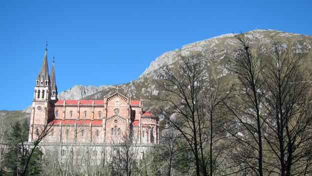 The cathedral at Covadonga.