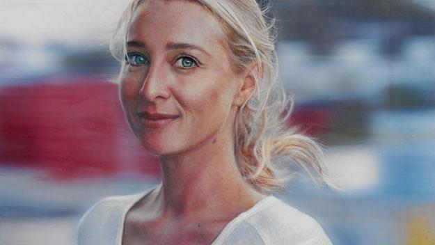 Vincent Fantauzzo's portrait of Asher Keddie.
