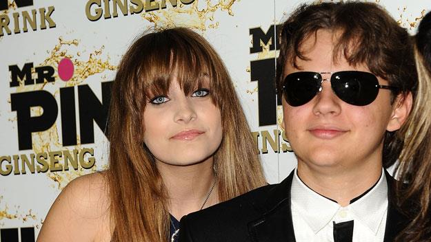 Paris Jackson with her older brother Prince Michael I.