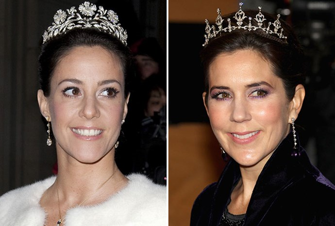Denmark's Princess Marie (left) and Crown Princess Mary (right).