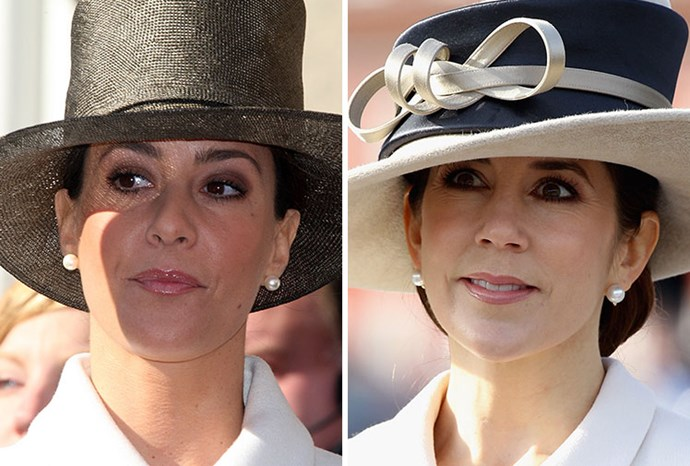 "Marie and Mary in [matching hats](https://www.nowtolove.com.au/royals/international-royals/princess-mary-prince-frederik-charles-birthday-52471|target=""_blank"") and white jackets."