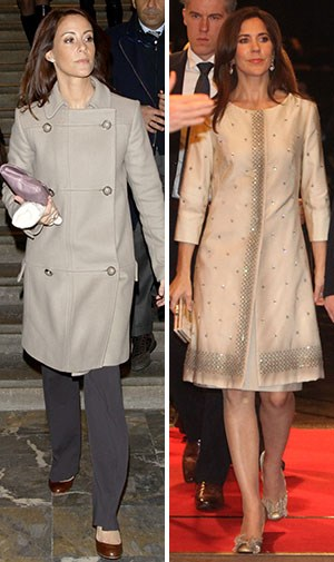 In very similar coats.