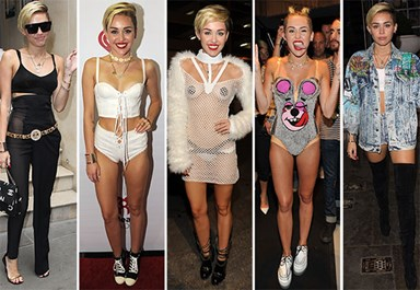 Thirty outfits Miley Cyrus will probably regret