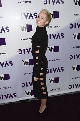 In a daring cut-out dress in December 2012.